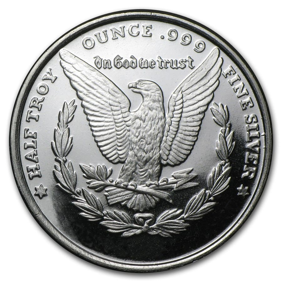 1/2 oz Silver Rounds - Morgan Dollar (Mini Sized)